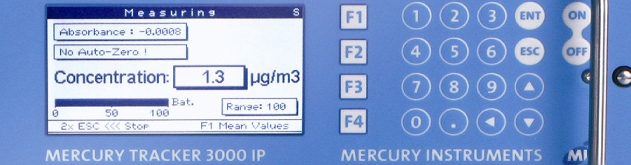 Mercury Vapor monitor key pad